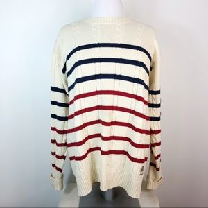 Tommy Hilfiger Crew Neck Cable Knit Sweater